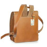 Jahn-Tasche – Mittel-Großer Lederrucksack / Lehrer-Rucksack Größe M aus Leder, Cognac-Braun, Modell 668