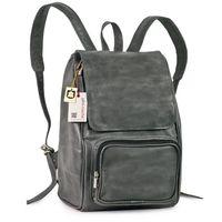 Jahn-Tasche –  Mittel-Großer Lederrucksack Größe M / Laptop-Rucksack bis 14 Zoll, Anthrazit-Grau, Modell 710