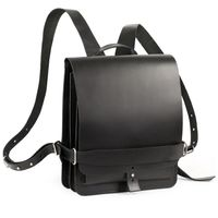 Jahn Tasche – Small leather backpack / city bag Size S made out of leather, black, model 667