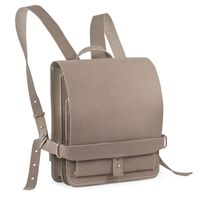 Jahn Tasche – Small leather backpack / city bag Size S made out of buffalo leather, grey taupe, model 667