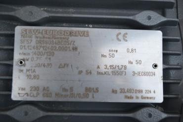 SEW SF57 DRS80S4BE05/Z Getriebemotor Elektromotor Drehstrommotor – Bild 2