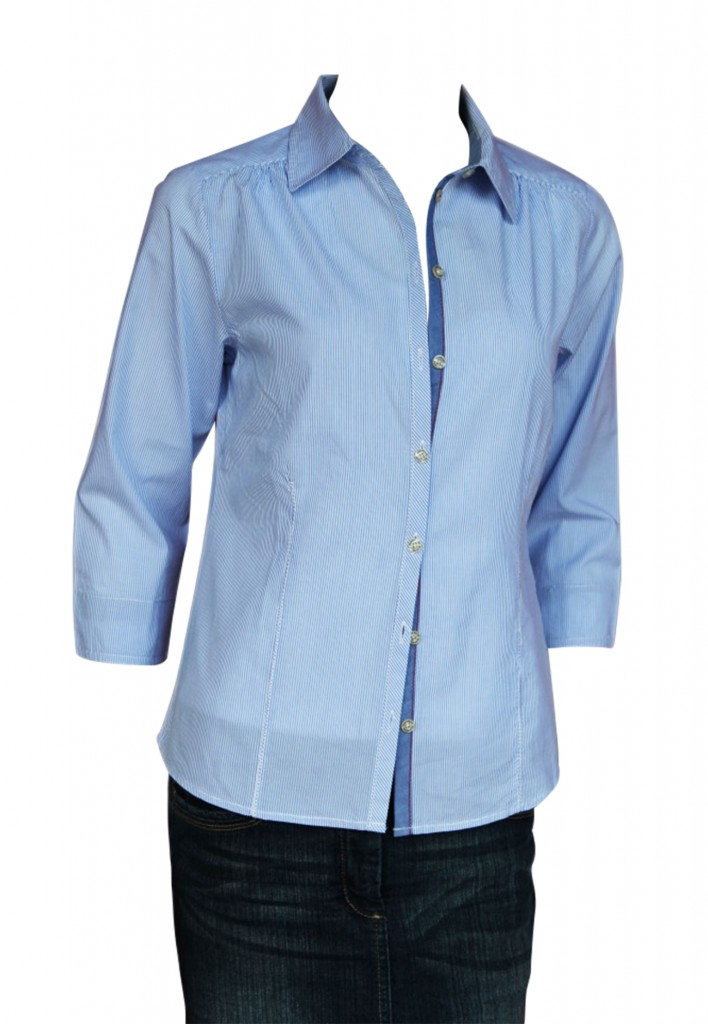 Blue Willis Damen Bluse Hellblau