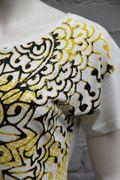 Blue Willis Damen Shirt Naturweiß floraler Druck gelb/ blau-3