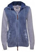 PIECE OF BLUE Damen Strickjacke