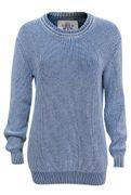 PIECE OF BLUE Damen Klassiker Pullover iceblau-1