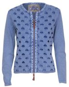 PIECE OF BLUE Strickjacke stone wash