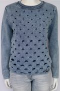 PIECE OF BLUE Pullover stone wash-2