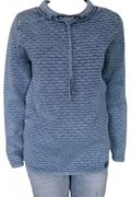 PIECE OF BLUE Long-Pullover stone wash