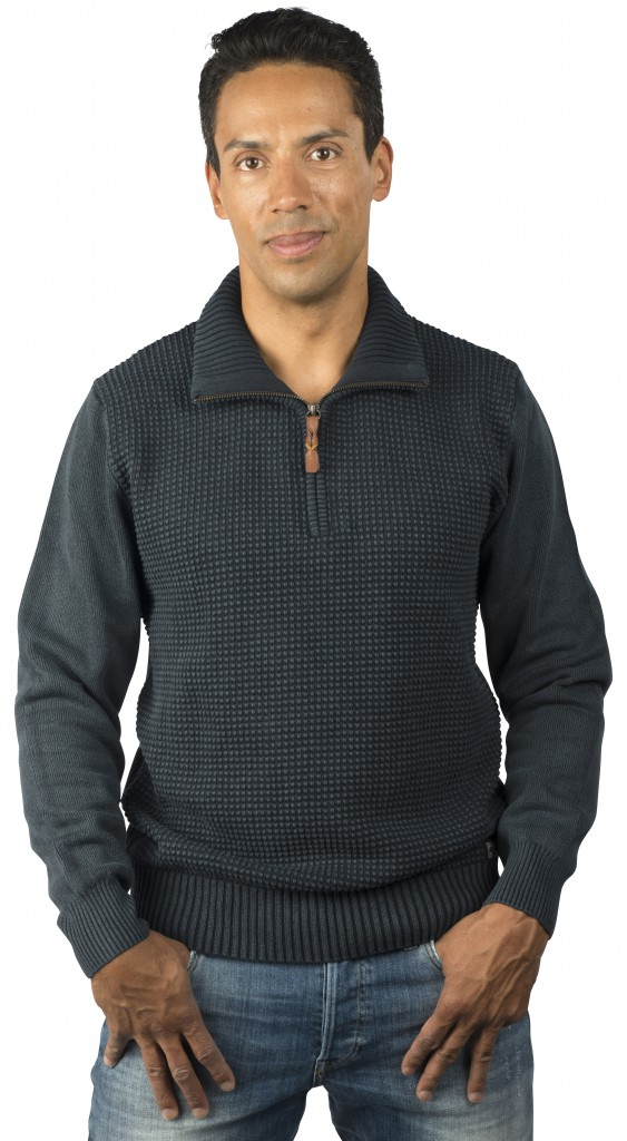 PIECE OF BLUE Herren Pullover d.blau
