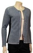 PIECE OF BLUE Damen Strickjacke stone wash-3