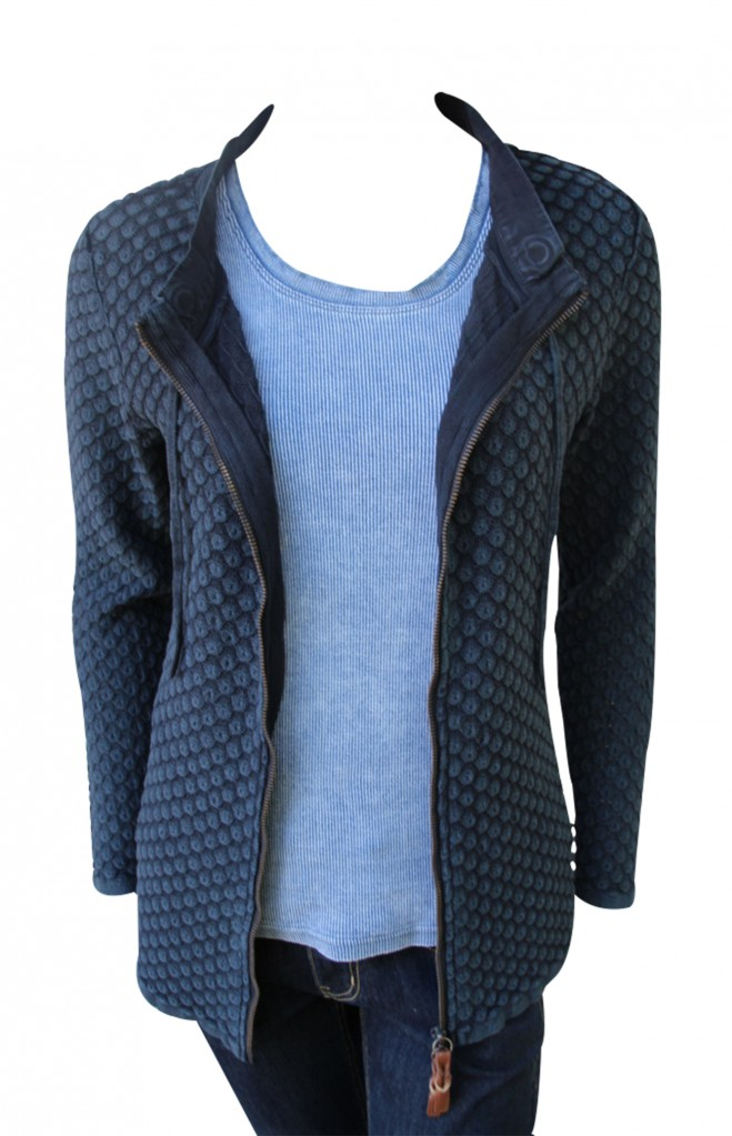 Piece of blue Damen Strickjacke dunkelblau