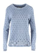PIECE OF BLUE Pullover stone wash