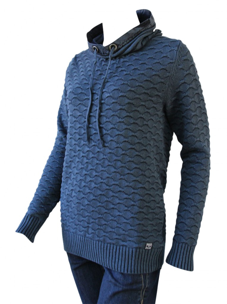 PIECE OF BLUE Long-Pullover dunkelblau