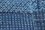 Schal - blau Muster