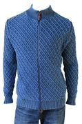PIECE OF BLUE Hr. Strickjacke iceblau