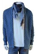 PIECE OF BLUE Hr. Strickjacke iceblau-3