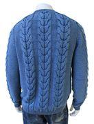 Piece of blue Herren Strickpullover iceblau-3