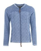 PIECE OF BLUE Damen Strickjacke rot/ blau-2
