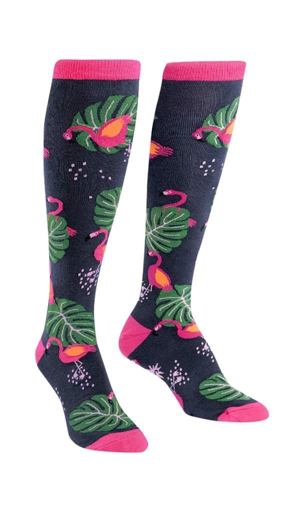 Sock it to me - Damen Socken lang - Flamingo