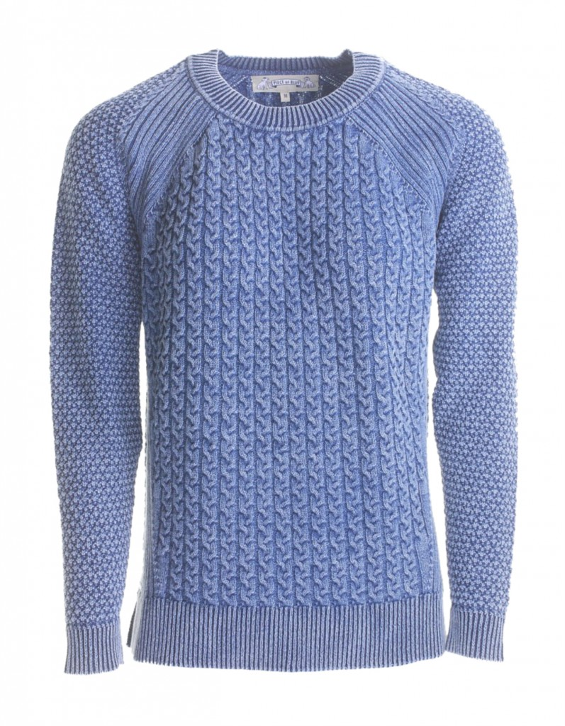 PIECE OF BLUE Damen Strickpulli iceblau stone washed