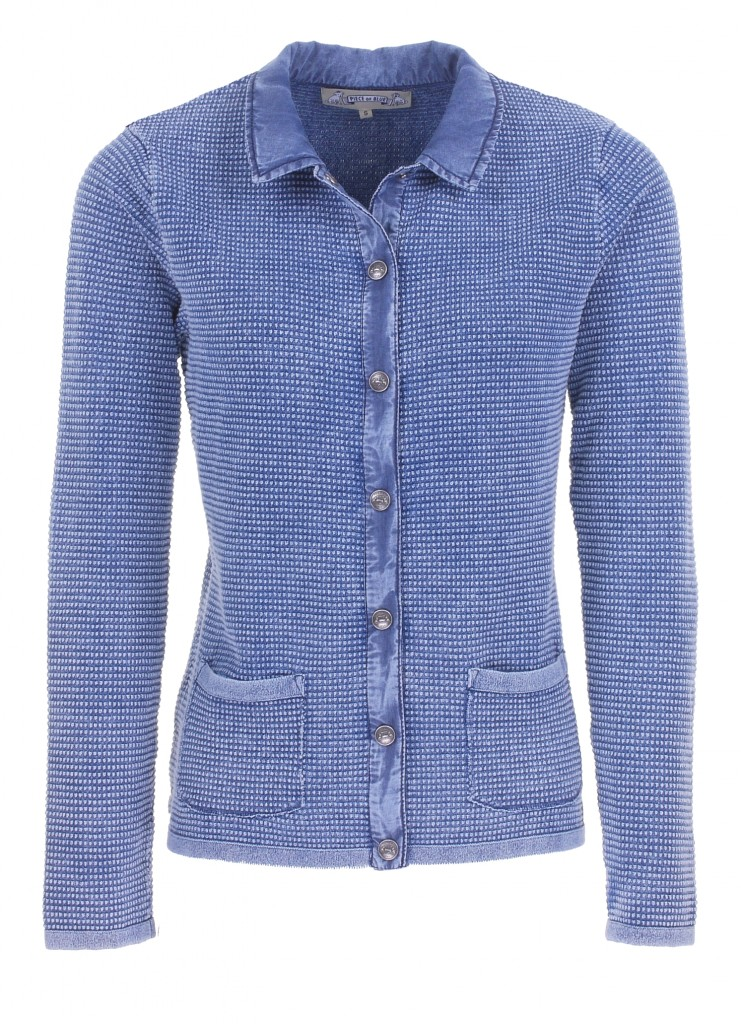 PIECE OF BLUE Damen Strickjacke ice blau stone wash