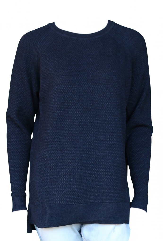 PIECE OF BLUE Pullover dunkelblau