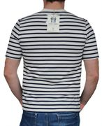 Saint James Hr. Kurzarm Shirt ecru marine-2
