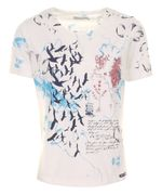 Piece of blue Damen Shirt Sommerdruck Happy T-Shirt