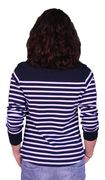 Mousqueton Da. Shirt lang navy ecru Streifen-2