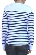Mousqueton Da. Shirt lang ecru royal Streifen-3