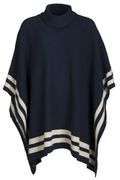 Key West Damen Poncho blau / weiß