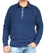 PIECE OF BLUE Herren Polo Pullover