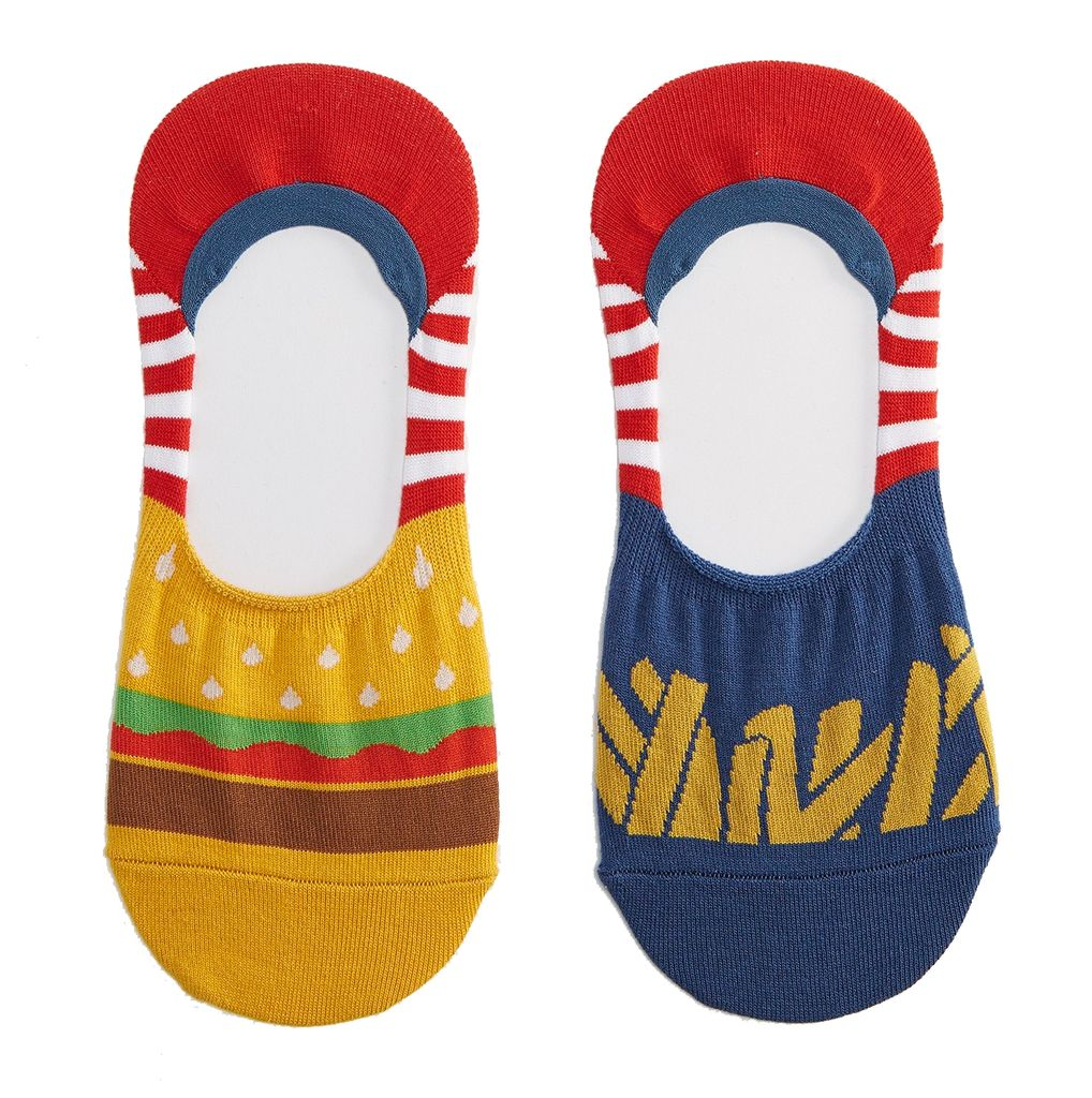 Sock it to me - Füßlinge Unisex Burgers & Fries