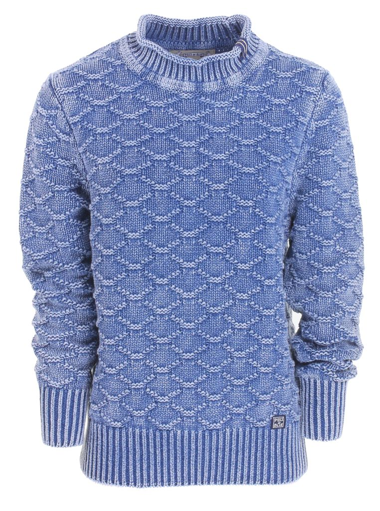 Piece of Blue Damen Strickpulli stone wash oder weiß