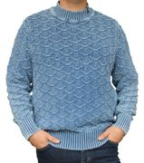 Piece of Blue Herren Pullover stone wash