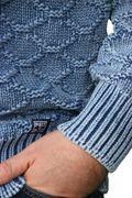 Piece of Blue Herren Pullover stone wash