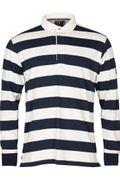 Key West Herren Poloshirt ecru / navy Streifen