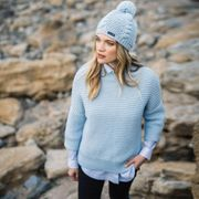 Saint James Da. Pullover Wollmix hellblau