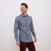 Brakeburn Herren Hemd Jeans Look