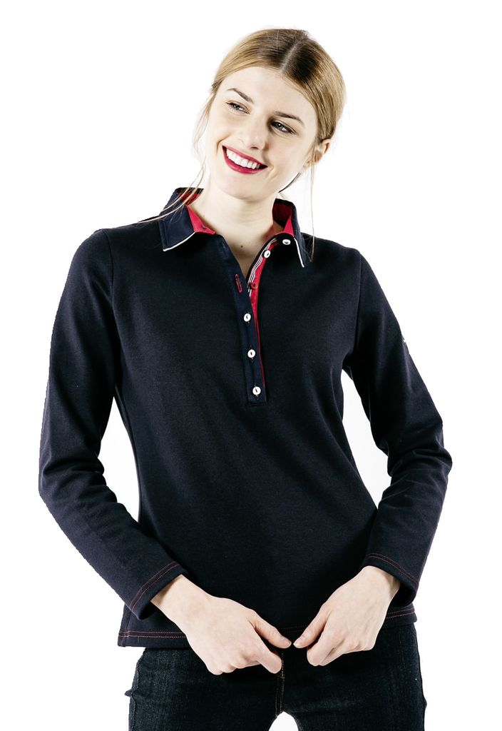 Saint James Da. Poloshirt Navy