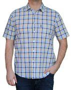 Saint James Herren Hemd weiß blau gelb