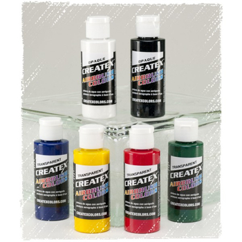 Createx Classic Color | 6 x 60ml | Transparent Set – Bild 1