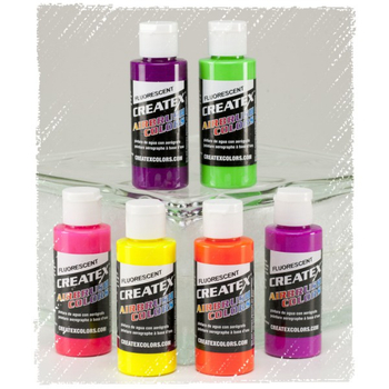 Createx Classic Color | 6 x 60ml |  Fluoreszierendes Set