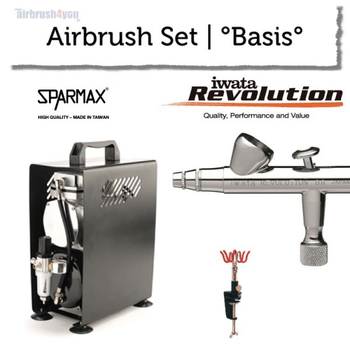 Airbrush Set | °Base° | Iwata Revolution BR – Bild 1