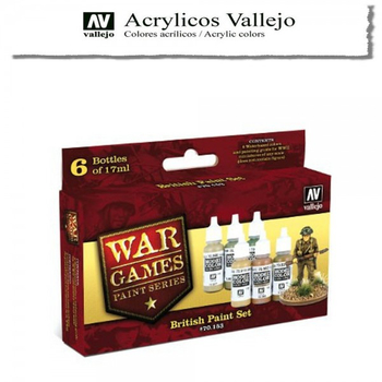 Vallejo | Wargames Serie | British Set