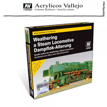 Vallejo | Train Color Set | Weathering Steam Dampflok
