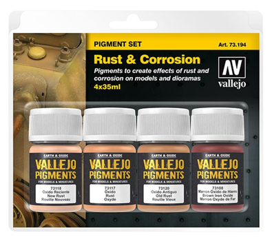 Vallejo | PIGMENT Set | Rust and Corrosion