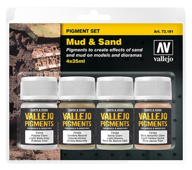 Vallejo | PIGMENT Set | Mud and Sand