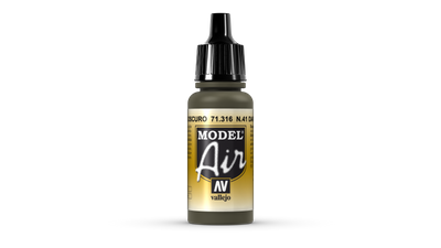 Vallejo | Model Air | 17ml | DK. Olive Drab