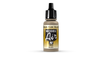 Vallejo | Model Air | 17ml | Yellow Brown
